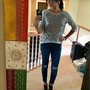 Urban Outfitters Sequin Sweater