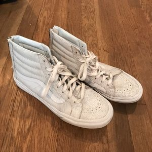 f83891fe168cf0 Vans Shoes - Madewell Vans Hi Slim Zip Crackle Suede White