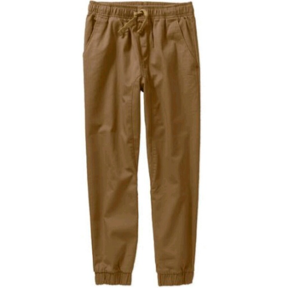 10dc88964 Faded Glory Bottoms | Nwt Woven Khaki Boys Jogger Pants | Poshmark