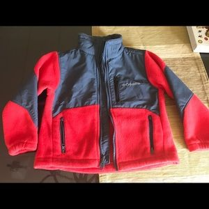 red and gray Columbia fleece in 4T