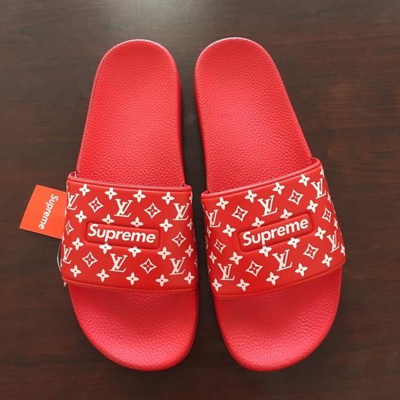 9067eda620b4 Supreme flip flops slides sandals