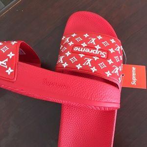 60bc214ef8dd Supreme Shoes - Supreme flip flops slides sandals
