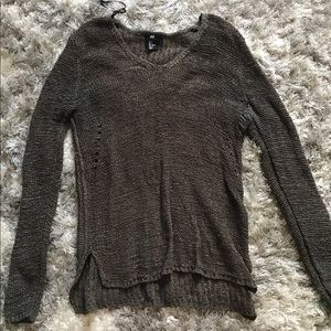 S H&M green sweater