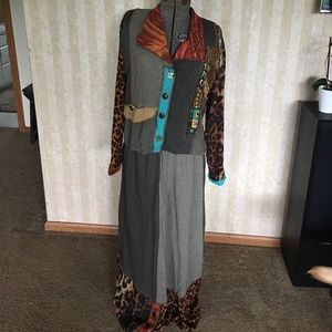 Unique Vintage Jacket and Skirt.