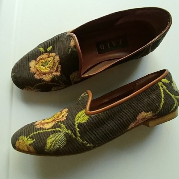 Off shoes vintage zalo embroidered rose size
