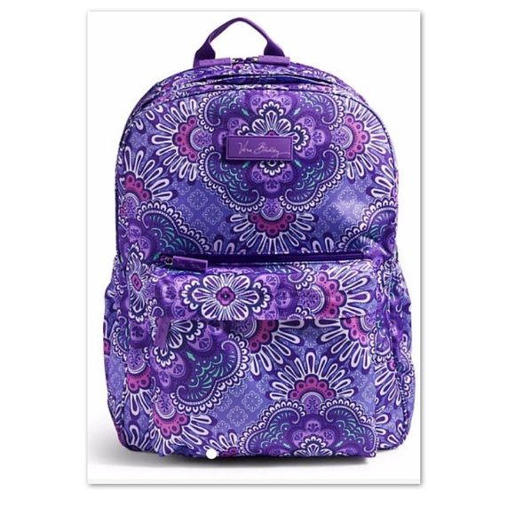 77eec24b6d12 Nwt Vera Bradley Lilac Tapestry Backpack