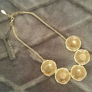 NWT Ann Taylor Enamel Stone Statement Necklace
