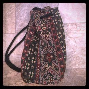 Vintage Hippie Boho Carpet Back Pack Bag Gypsy