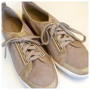 NIB • Calvin Klein Dark Gold/Cocoon Sneakers