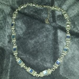 NWOT Silver and Blue  Stone Delicate Necklace