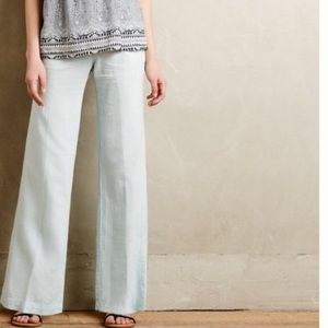 Anthropologie linen trousers