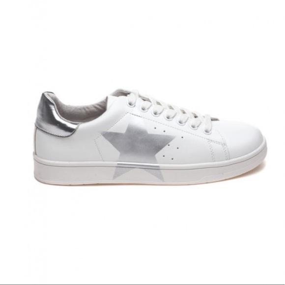 Steve Madden Rayner star silver sneakers | 8.5