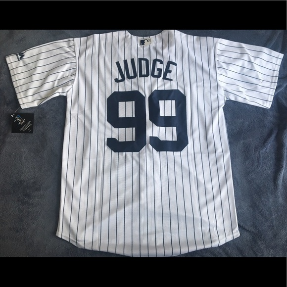 promo code dcf2e 5dedb New York Yankees #99 Aaron Judge white jersey New NWT
