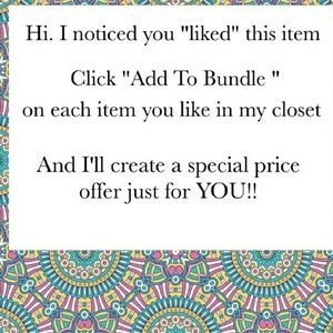 ❤*MAKE A BUNDLE & I'LL MAKE YOU A GREAT OFFER!*❤