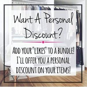 Want a Personal Discount?