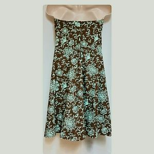GAP Dresses - Gap Stretch Strapless Dress Brown Green Size 6