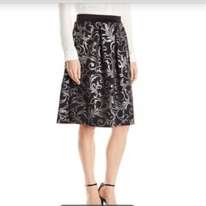 Black with silver accent skirt
