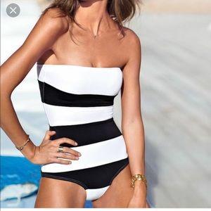 Victoria's Secret Black/White One Piece Swimsuit