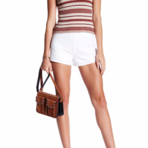FREE PEOPLE Shorts White Embroidered Cotton NWT$78