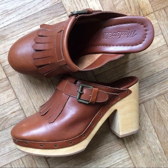 db5aa24c4585 Madewell Shoes - Madewell kiltie classic clogs with buckle