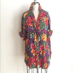 Vintage Lovers Floral Print Shirt Dress!