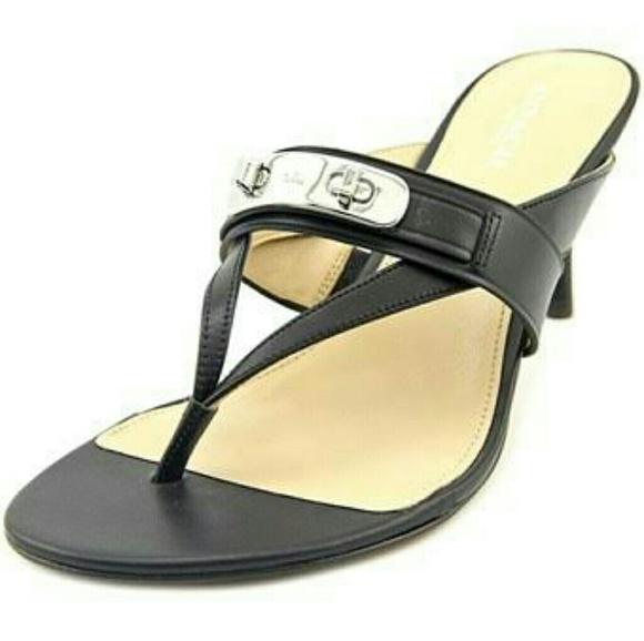 2f2044904 Coach Shoes - 💥SALE💥 Coach Olina Turnlock Thong Sandal
