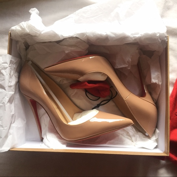 080b29fcf21d Christian Louboutin Shoes - 120 Nude Patent leather Christian Louboutin  Heels