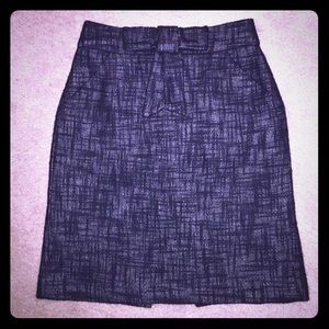 MILLY OF NEW YORK blk mini skirt with a bow accent