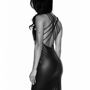 Sexy Strap Cocktail/Clubbing Dress Vegan Leather S