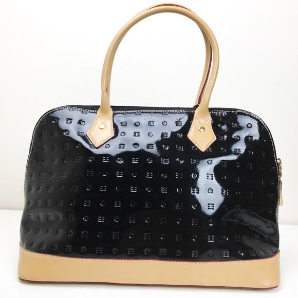 a0025c09b019 arcadia Handbags - Arcadia Bugatti Handbag Italy Black Patent Leather