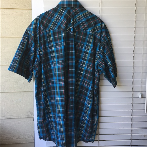 Wrangler wrangler pearl snap button shirt 3x from for Mens shirts with snaps instead of buttons