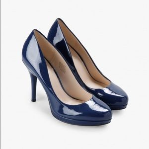 Nine West Kristal Platform Pumps Navy - New w/box