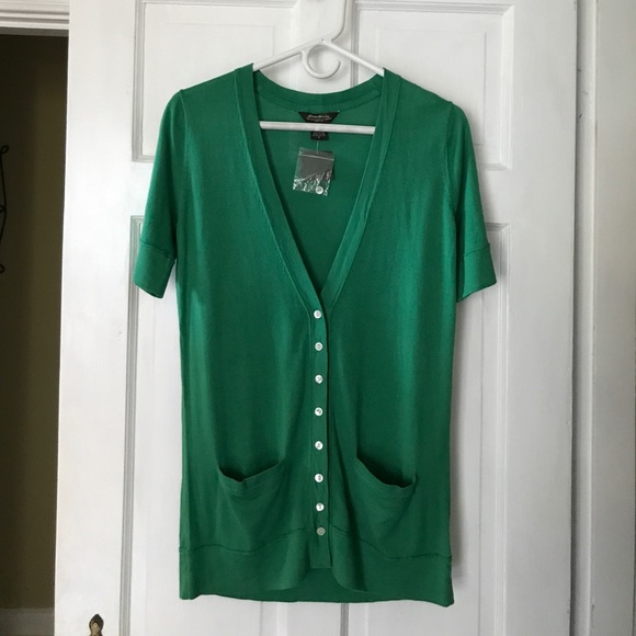 Eddie Bauer - 💕 NWT Eddie Bauer Green short sleeve cardigan from ...