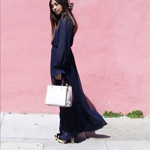 Zara Navy Blue Maxi Dress