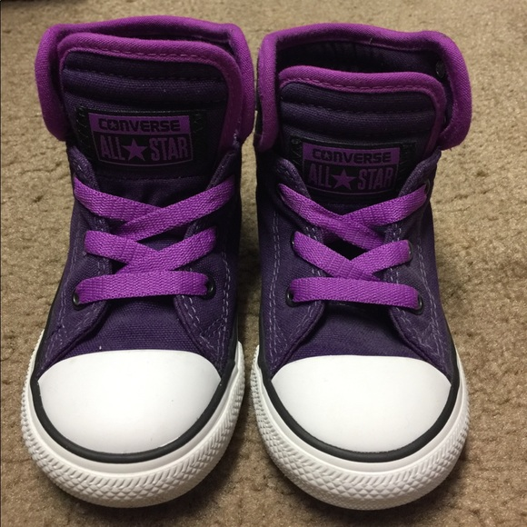 Converse shoes purple and black