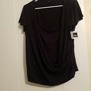 Tops - Black top with built in cami