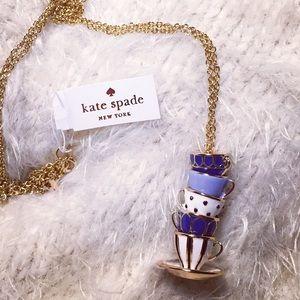 NWT Kate Spade Tea Time Necklace