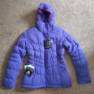 Salomon Stormpulse Women's Puffy Jacket, Navy NWT