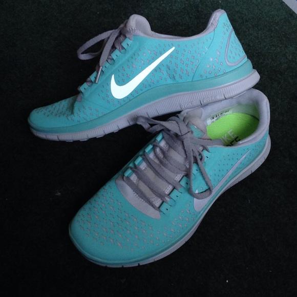 Nike Free Run Children S Shoes Size  Blue