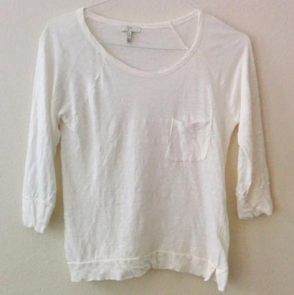 Joie Tops White Linen Knit Top Relaxed Jersey Poshmark