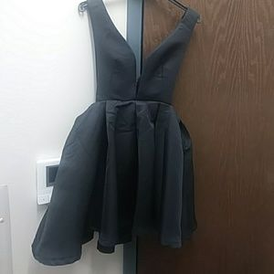 Dresses & Skirts - deep plunge skater dress