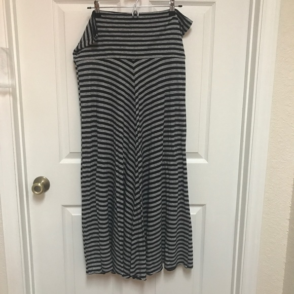 80 agb dresses skirts black and grey chevron maxi