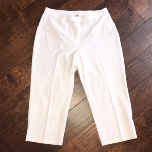 Eileen Fisher stretchy crepe crops