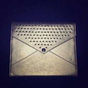REBECCA MINKOFF Studded Leather Silver iPad Case