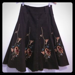 Dresses & Skirts - Dizzy Lizzie A Line Embroidery Skirt 6