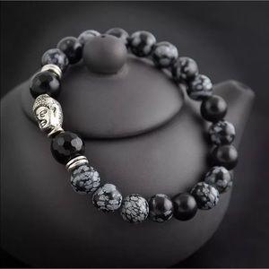 Jewelry - 5/$25 black speckled bead Buddha head bracelet