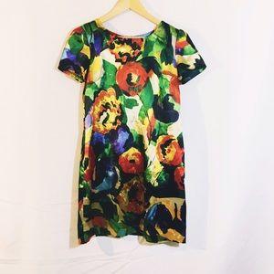 Dresses & Skirts - VINTAGE Silk mini babydoll floral dress