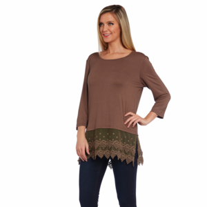 kaktus Lace Hem Tunic top