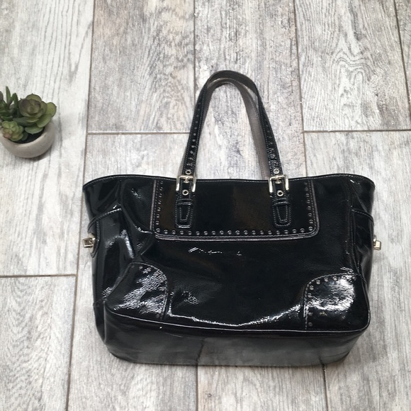 dc2771f4c3bd 76% off Coach Handbags - Coach black patent leather small gallery tote bag  from Courtneymichelle