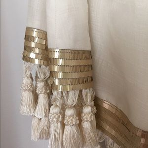 Mestiza New York Dresses - Mestiza New York Off-the-Shoulder Tassel Dress